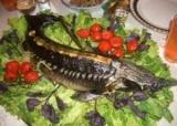 Фарширований осетер - етапи приготування королівської рибки!